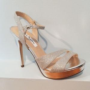 Nina Silver Sparkle Heels